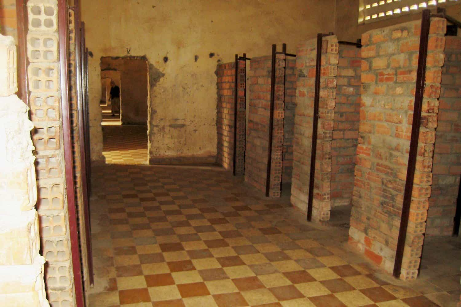 Classrooms became cells at S21 prison, Cambodia