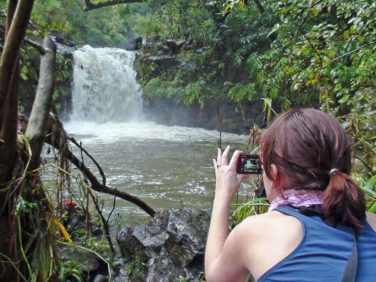 Capturing a Maui waterfall on the Road to Hana