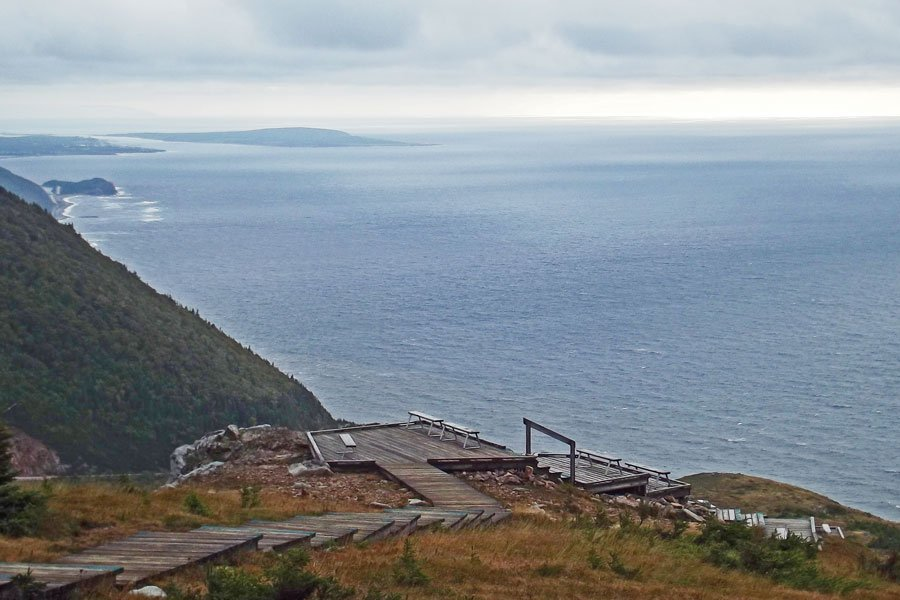 Skyline Trail viewing point over the Gulf of St. Lawrence