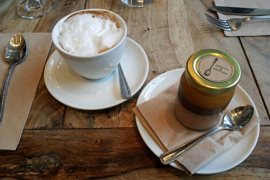 One of the many delicious coffees and desserts in Montreal