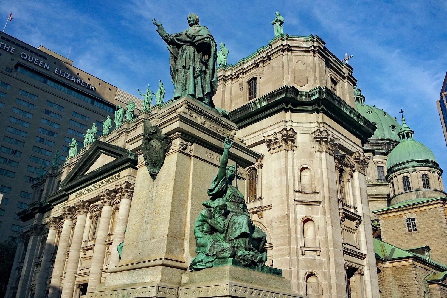 The impressive Mary, Queen of the World Cathedral in Montreal