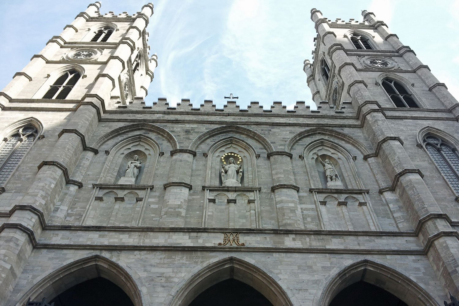 The grand Notre Dame Basilica in Old Montreal