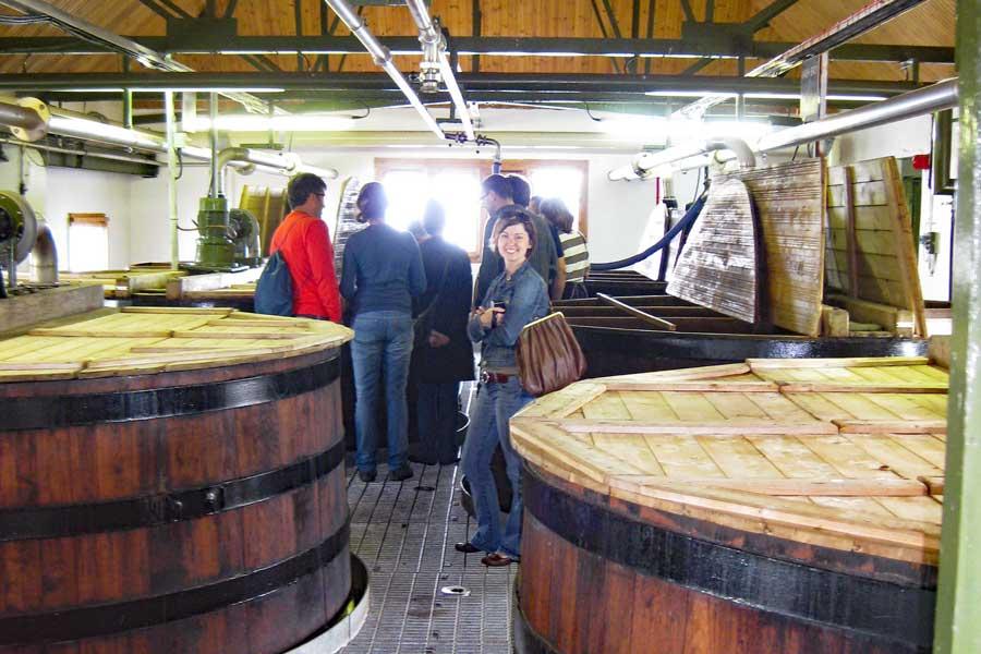 Touring Ardbeg Distillery in Islay