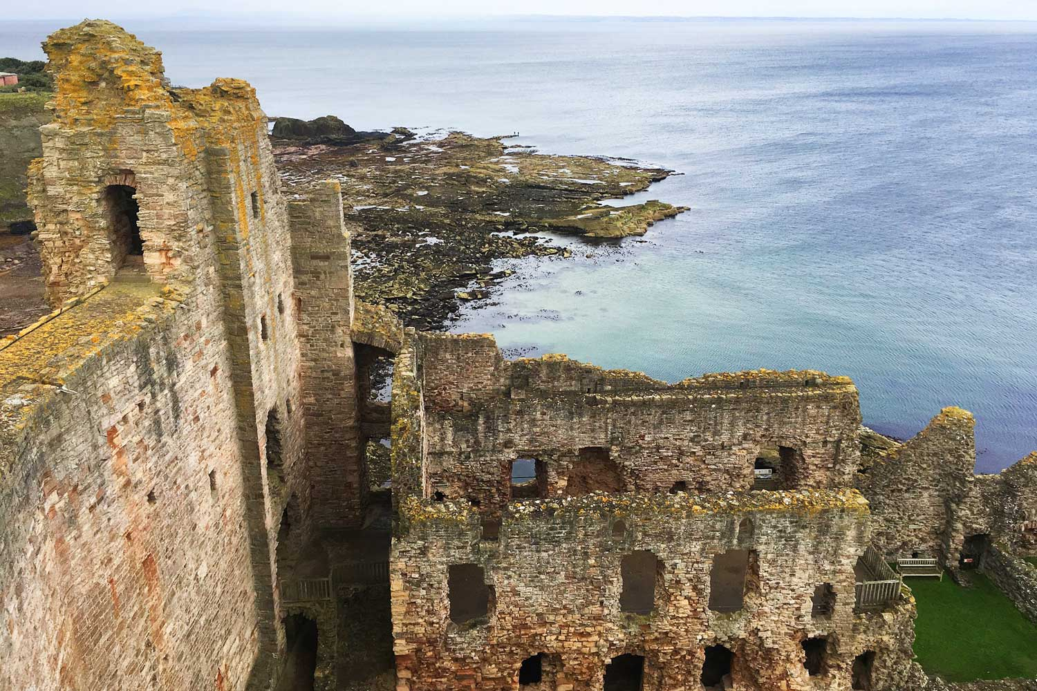 Ocean view from Tantallon Castle, Scotland