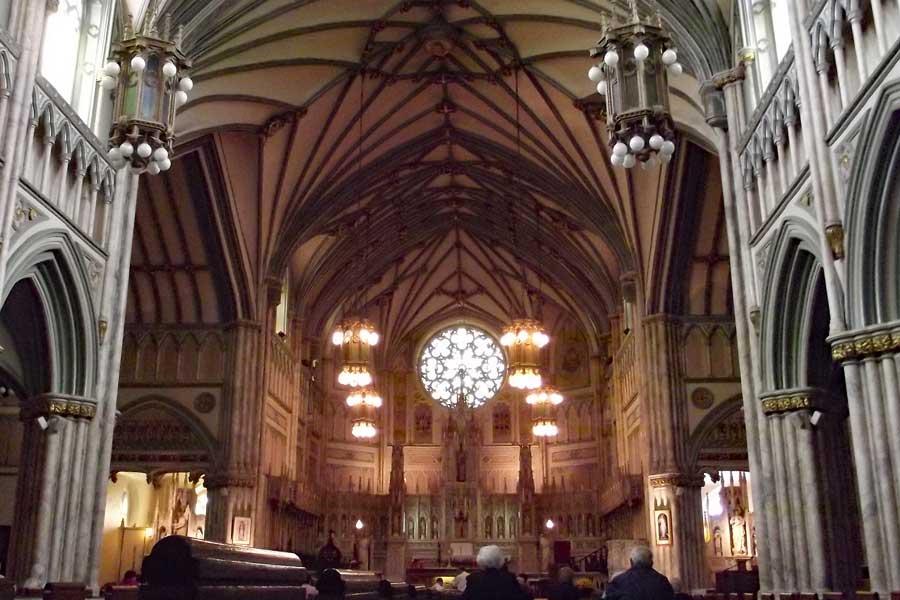 Inside St. Dunstan's Basilica in Charlottetown, PEI