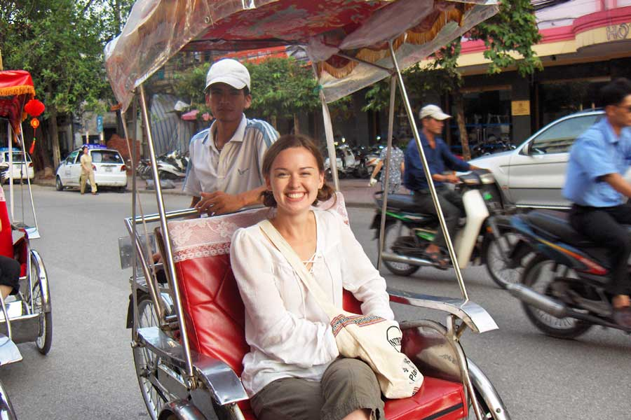 A comfy tuk-tuk ride through Hanoi, Vietnam
