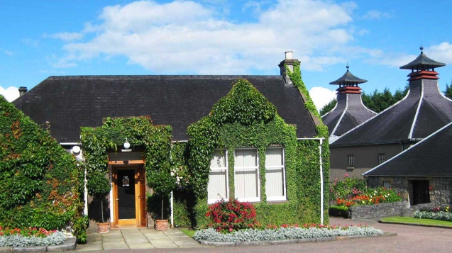 Elegant houses at Glenfiddich Distillery