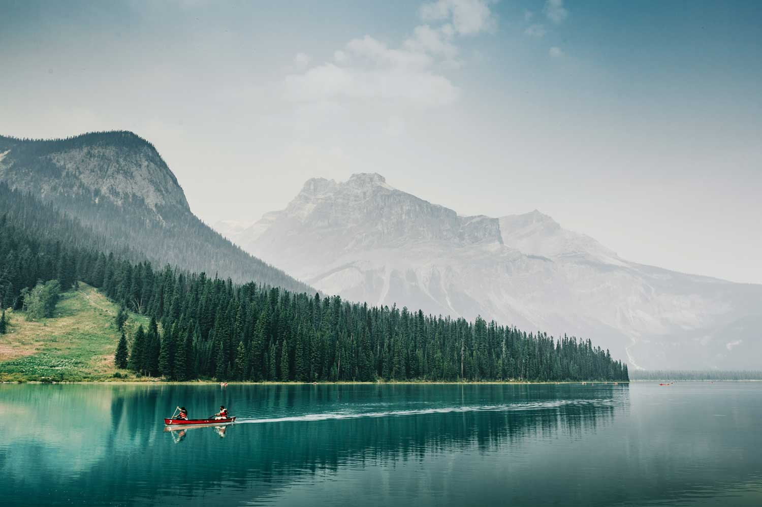 A romantic paddle on Lake Louise