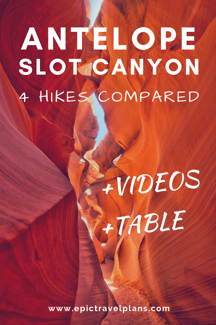 Antelope Canyon Hikes Compared + Video Tours