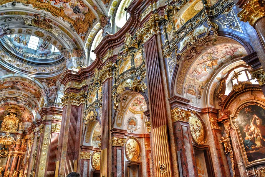 The truly EPIC Melk Abbey Church in Austria