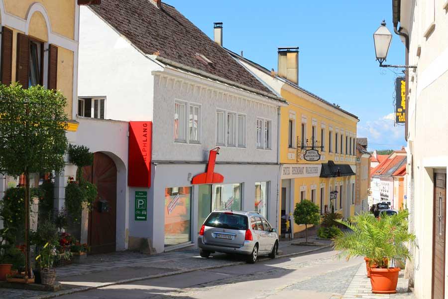 Melk's cute cobblestone streets