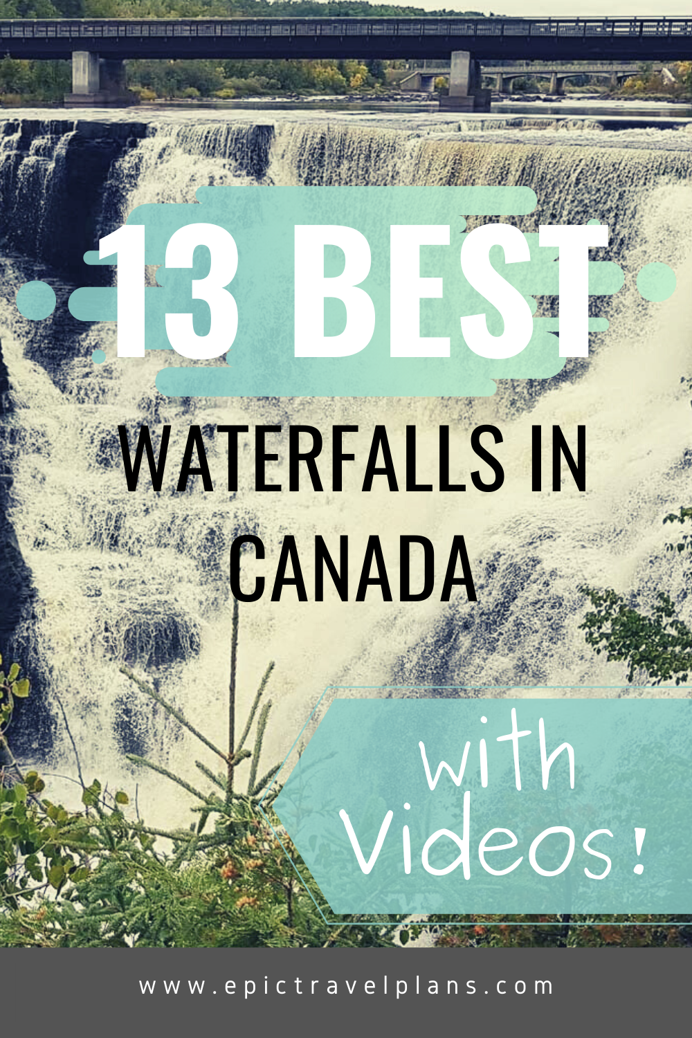 13 BEST waterfalls in Canada, with videos