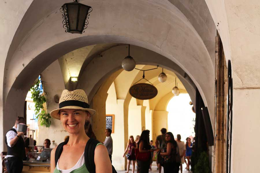 Arched walkways in Prague
