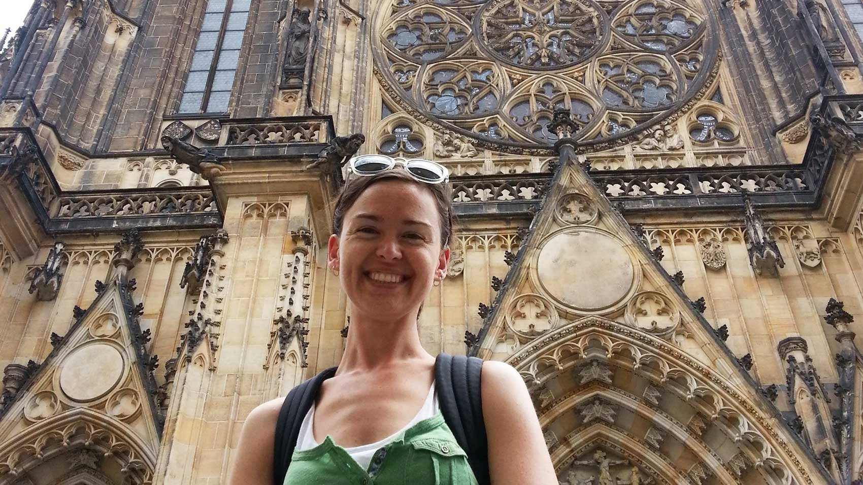 Selfie with St. Vitus Cathedral in Prague Castle
