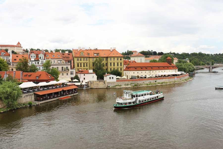 Vltava River from Charles Bridge in Prague