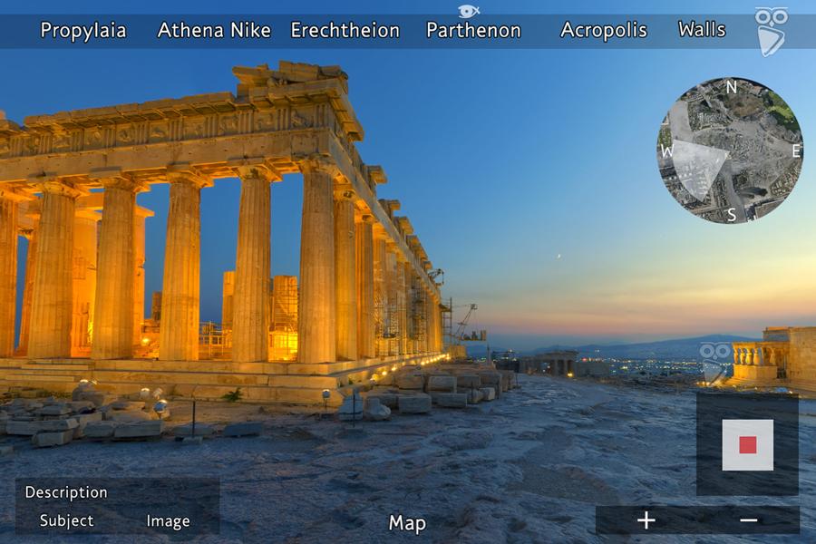 Best virtual tours of historic sites in Europe, Acropolis, Parthenon virtual tour in Athens, Greece