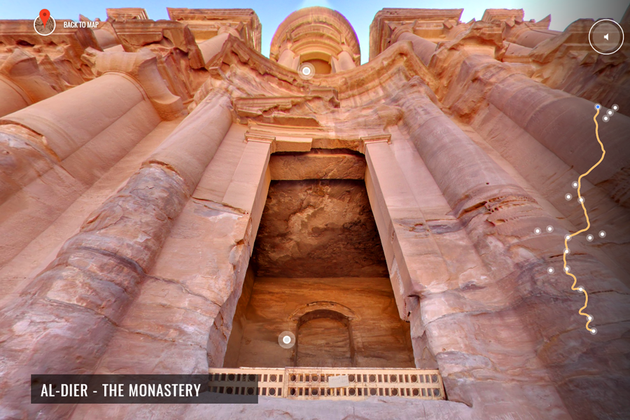 Best virtual tours of historic sites in Asia, Wonders of the World, Petra virtual tour in Jordan