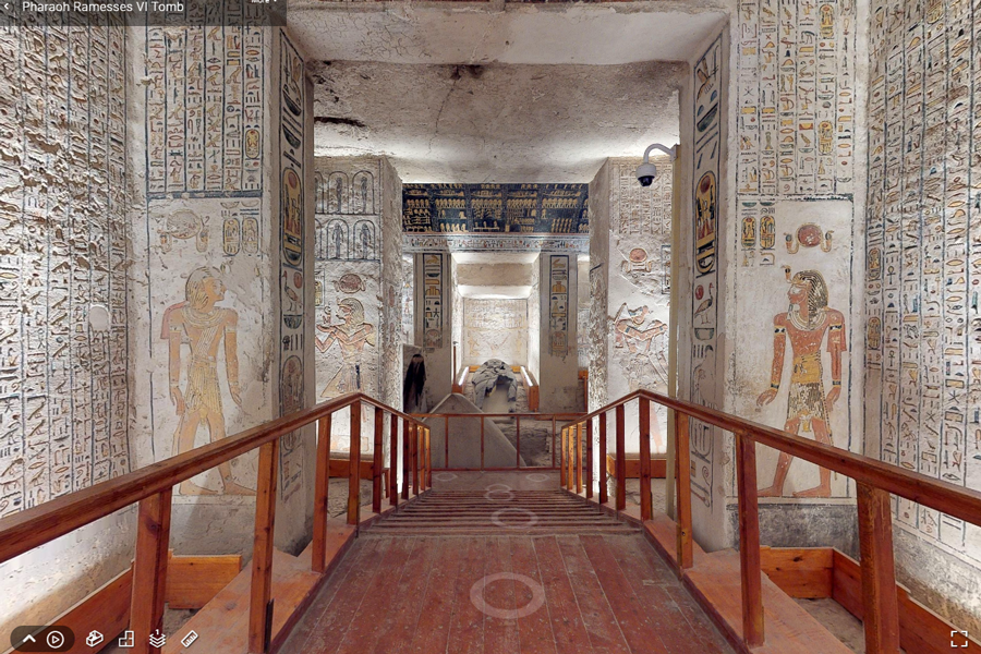 Best virtual tours of historic sites in Asia, Ancient Egypt, Pharaoh Ramesses VI Tomb virtual tour