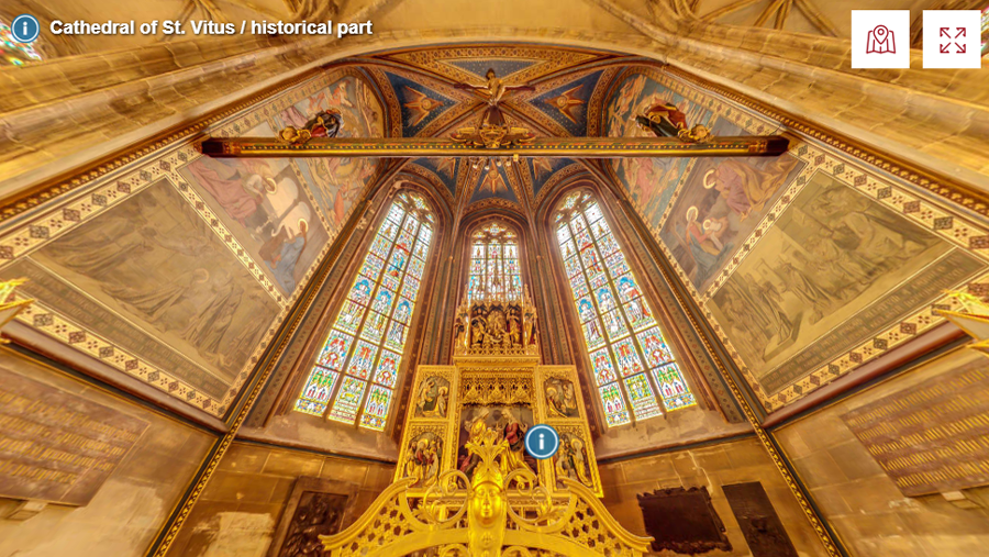 Best virtual tours of historic sites in Europe, Prague Castle, St Vitus Cathedral virtual tour in Prague, Czech Republic