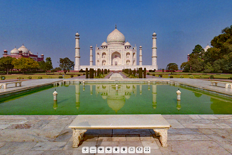 Best virtual tours of historic sites in Asia, Wonders of the World, Taj Mahal virtual tour in Agra, India