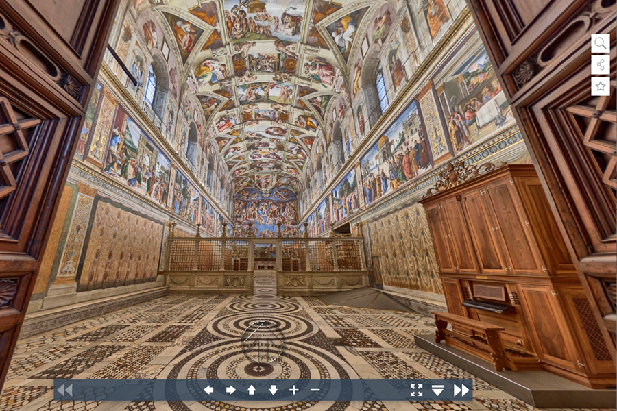 Best virtual tours of historic sites in Europe, Vatican City Museum, Sistine Chapel virtual tour in Rome, Italy