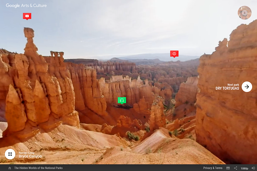 Best virtual tours of national parks in USA, Bryce Canyon virtual tour in Utah
