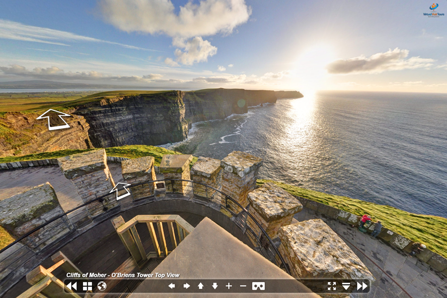 Best virtual tours of national parks in UK and Europe, Cliffs of Moher virtual tour in Ireland