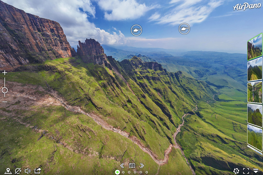 Best virtual tours of national parks in Africa, Dragon's Teeth, Drakensberg National Park virtual tour in South Africa