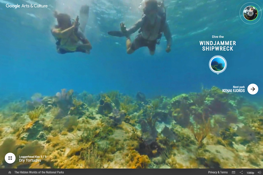 Best virtual tours of national parks in USA, Dry Tortugas National Park virtual tour in Florida