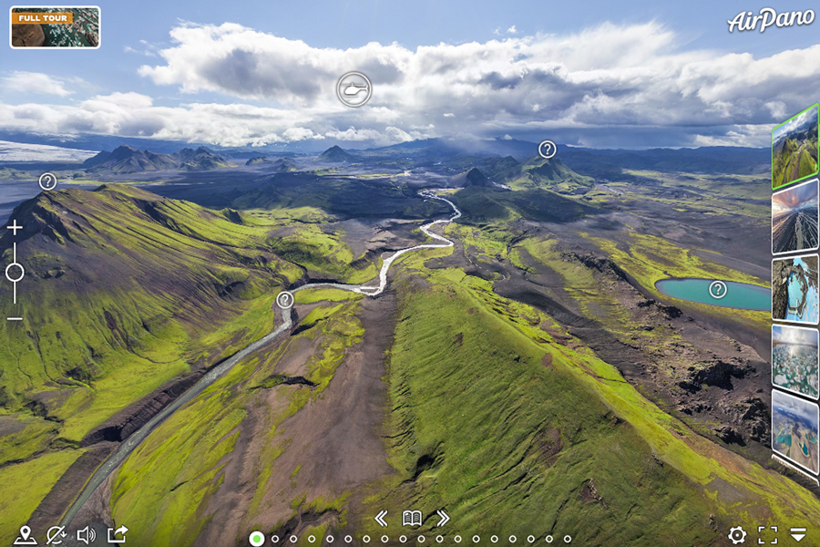 Best virtual tours of national parks in UK and Europe, Iceland landscapes virtual tour