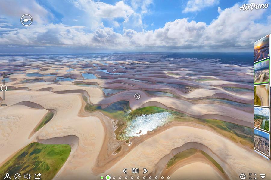 Best virtual tours of national parks in South America, Lencois Maranhenses National Park virtual tour in Brazil