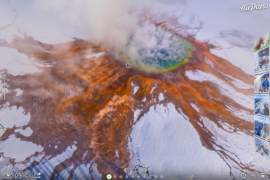Best virtual tours of national parks in USA, Yellowstone National Park virtual tour in Montana