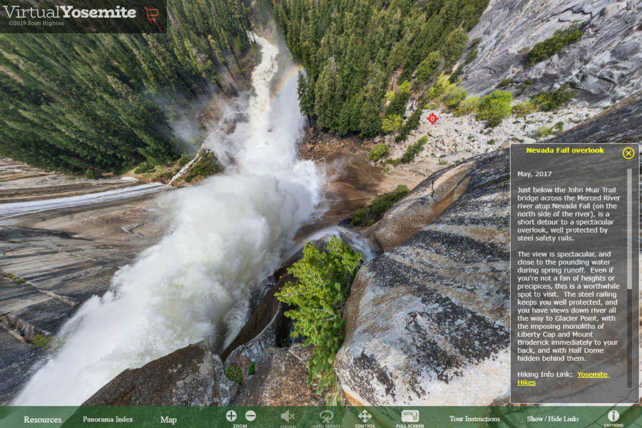 Best virtual tours of national parks in USA, Yosemite National Park virtual tour in California