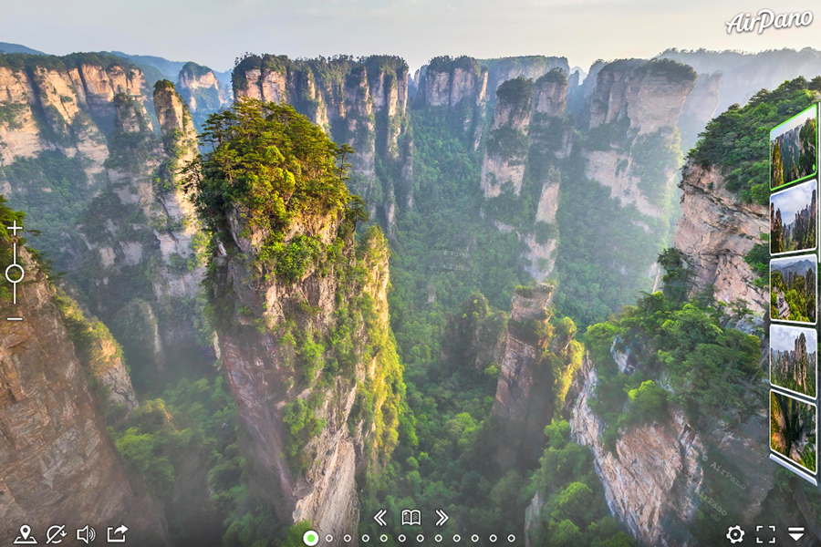 Best virtual tours of national parks in Asia, Zhangjiajie National Park virtual tour in China