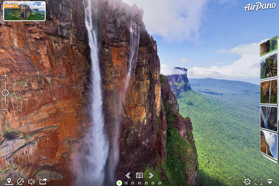 Virtual tour of Angel Falls in Venezuela