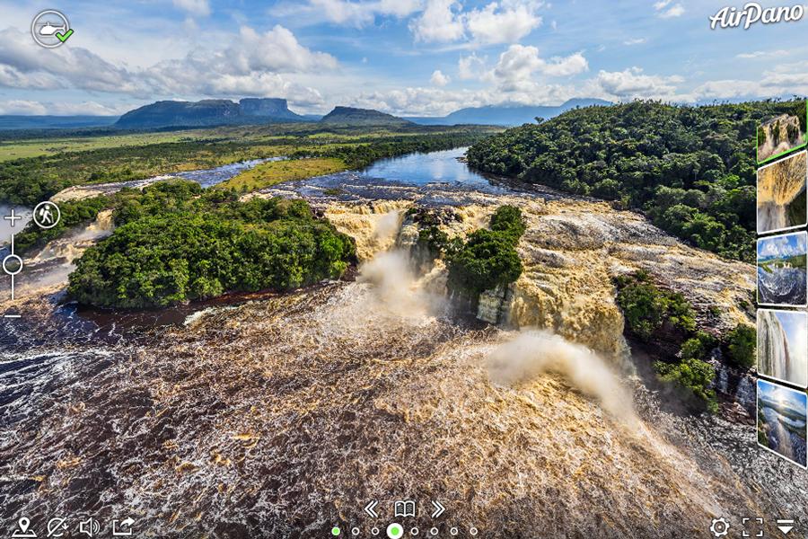 Virtual tour of Canaima Lagoon in Venezuela