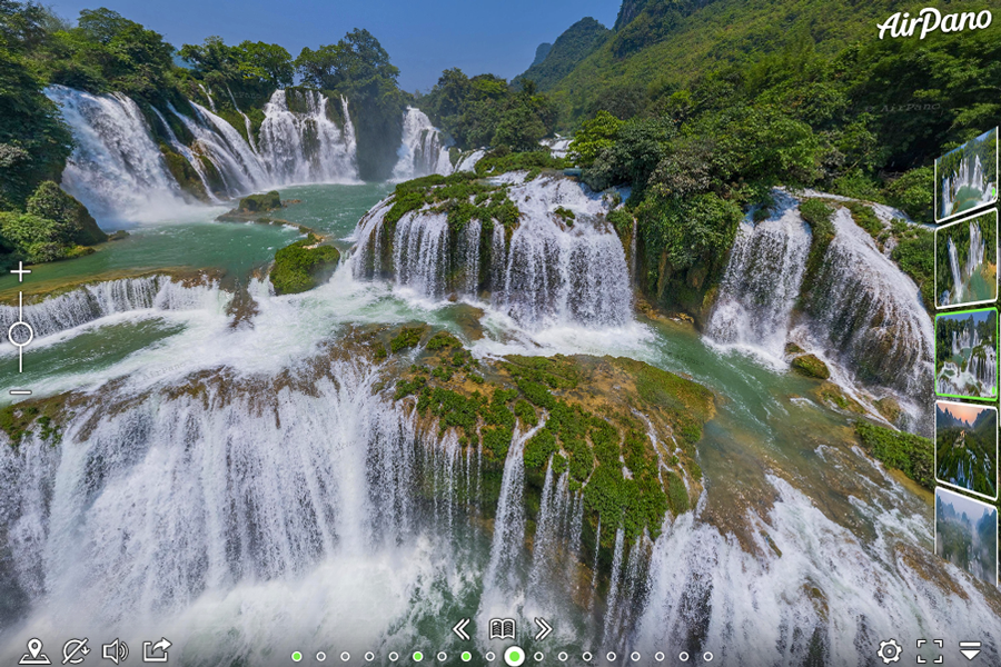 Virtual tour of Ban Gioc Waterfall (Vietnam) and Detian Falls (China)