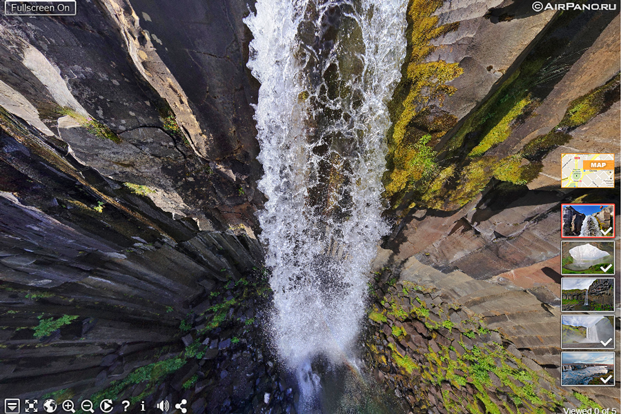 Virtual tour of Svartifoss Waterfall in Iceland