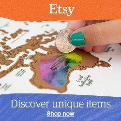Shop Etsy for unique travel gifts, travel map, travel journal