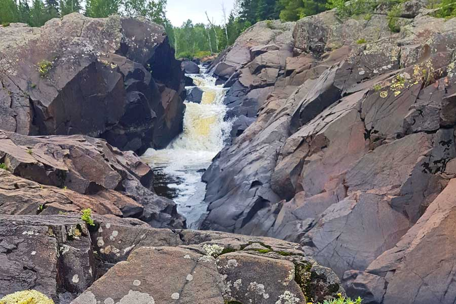 Cascades hiking trail near Thunder Bay Ontario
