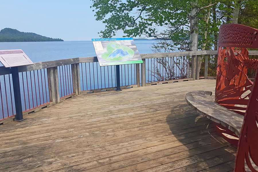 Pigeon River hiking trails near Thunder Bay, Boardwalk Trail lookout