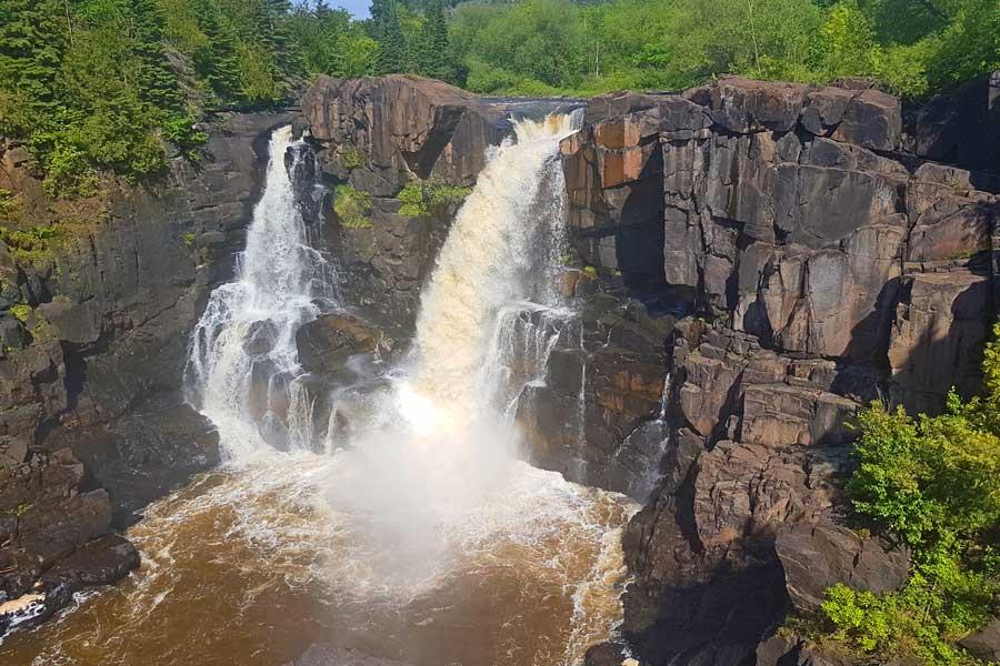 High Falls at Pigeon River, Ontario waterfalls