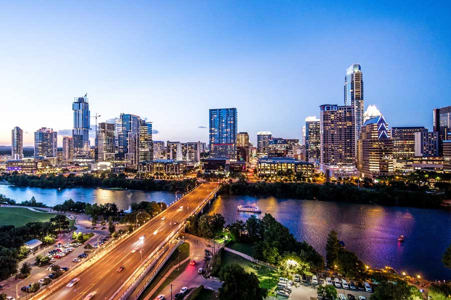 Virtual tour of Austin, Texas, travel United States