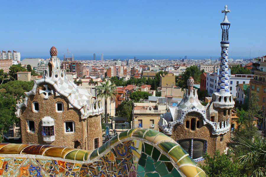 Virtual tour of cities, Barcelona Spain