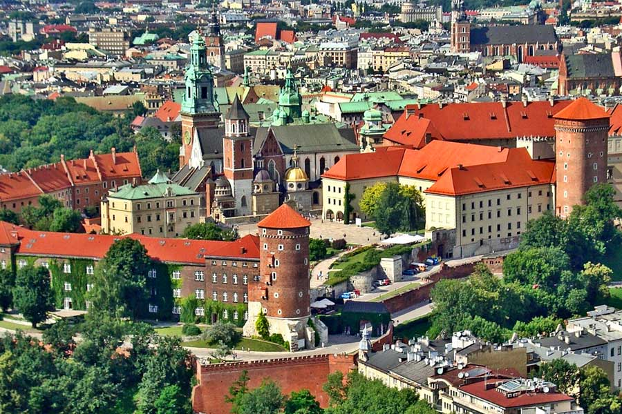 Virtual tour of cities, Krakow Poland