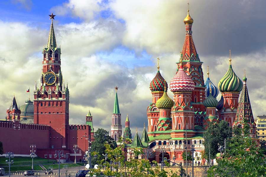 Virtual tour of cities, Moscow Russia