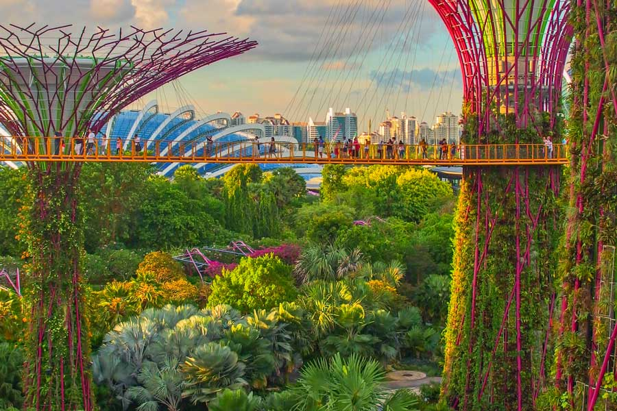 Virtual tour of cities, Singapore, travel destinations