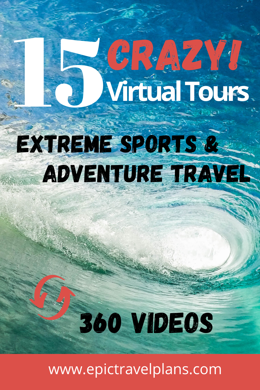Virtual tours of extreme sports and adventure travel, 360 videos, VR videos