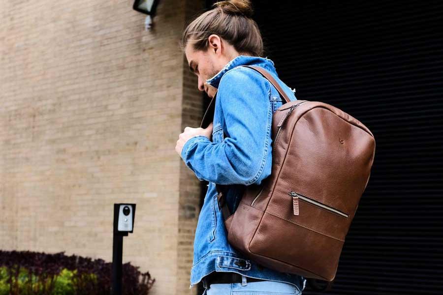 Leather travel daypacks for men, Etsy travel bags