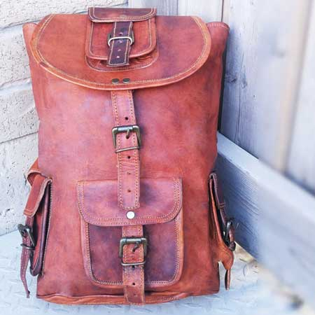Unique travel daypacks for men, Etsy travel bags